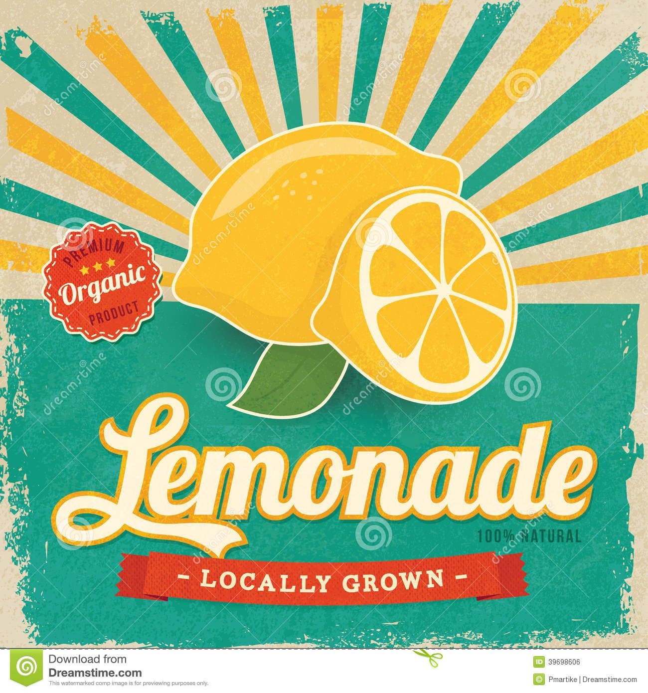 Vintage lemonade stand clipart clip art library Colorful vintage Lemonade label | wall art | Lemonade ... clip art library
