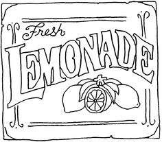 Vintage lemonade stand clipart jpg black and white download 13 Best lemonade stand sign images in 2018 | Lemonade, Kids ... jpg black and white download