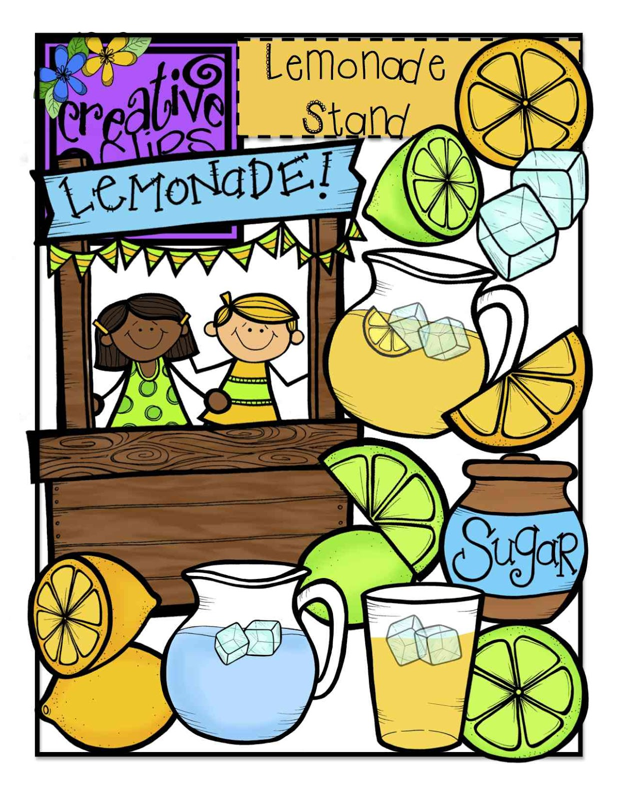 Vintage lemonade stand clipart graphic download Lemonade Picture | Free download best Lemonade Picture on ... graphic download