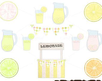 Vintage lemonade stand clipart jpg library download Lemonade Stand Clipart, lemonade stand clip art, summer ... jpg library download