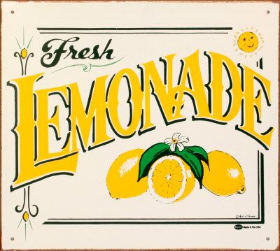 Vintage lemonade stand clipart jpg black and white stock Lemonade Sign On Pinterest | Lemonade Stand Sign, Lemonade ... jpg black and white stock