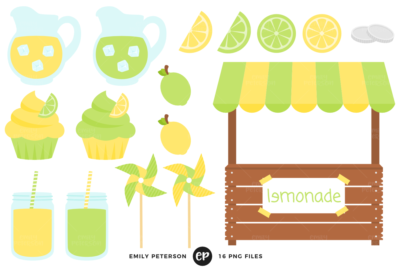 Vintage lemonade stand clipart picture stock Lemonade Stand Clipart By Emily Peterson Studio ... picture stock
