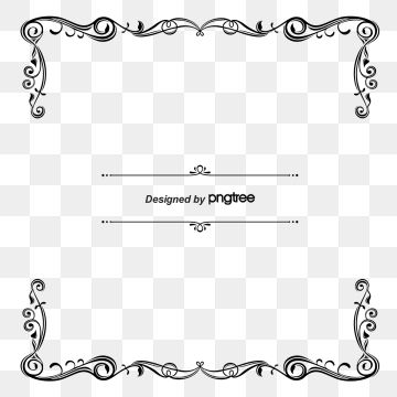 Vintage lines clipart picture free 2019 的 Simple Black Vine Square Border With Retro Lines ... picture free