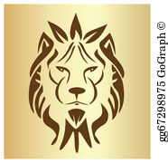 Vintage lion head clipart graphic royalty free download Lion Face Clip Art - Royalty Free - GoGraph graphic royalty free download