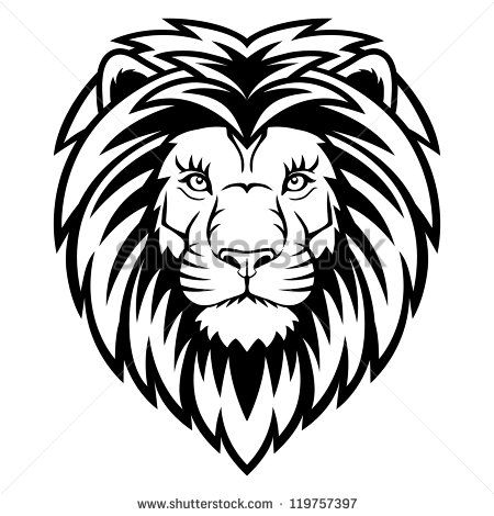 Vintage lion head clipart picture freeuse stock A Lion head logo in black and white. This is vector ... picture freeuse stock
