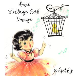 Vintage little girls clipart pink & orange png black and white Free Vintage Clip Art Archives - Free Pretty Things For You png black and white