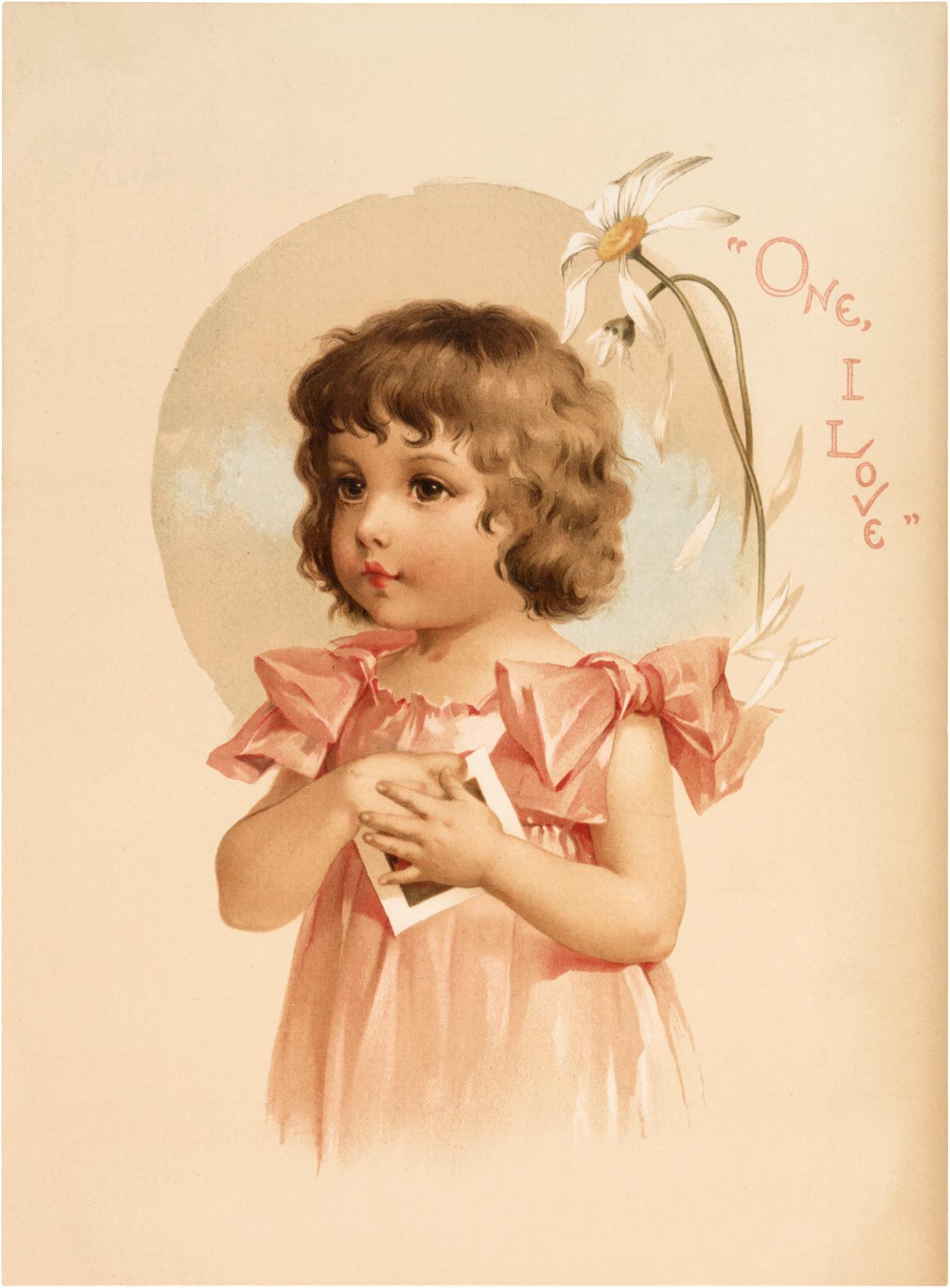Vintage little girls clipart pink & orange image royalty free stock 10 Valentine Children Images! - The Graphics Fairy image royalty free stock