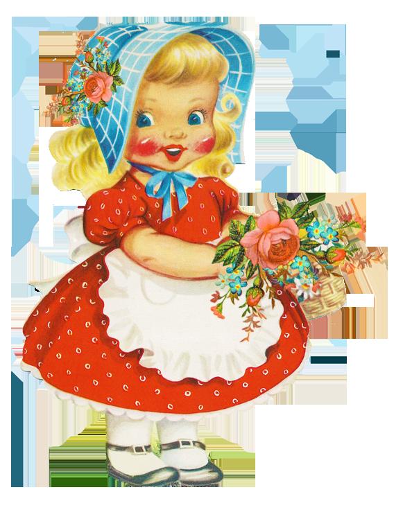 Vintage little girls clipart pink & orange banner transparent download Free Little Girl, Download Free Clip Art, Free Clip Art on ... banner transparent download