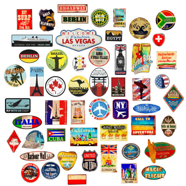 Vintage luggage stickers clipart clipart stock Luggage stickers suitcase patches vintage travel labels retro style vinyl  decals clipart stock
