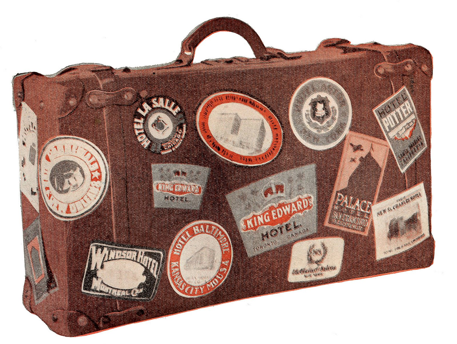 Vintage luggage stickers clipart picture freeuse library Free Vintage Luggage Cliparts, Download Free Clip Art, Free ... picture freeuse library