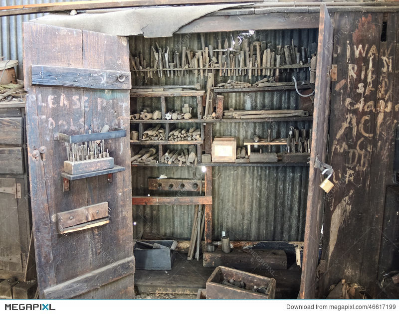 Vintage machinist tools clipart picture freeuse stock Old Railroad Machinist Tool Cabinet Stock Photo 46617199 ... picture freeuse stock