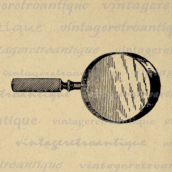 Vintage magnifying glass clipart jpg royalty free Digital Printable Magnifying Glass Image Antique Download ... jpg royalty free