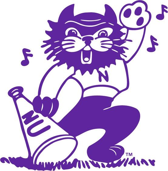 Vintage mascot clipart clipart free library Vintage Northwestern Willie the Wildcat mascot logo ... clipart free library