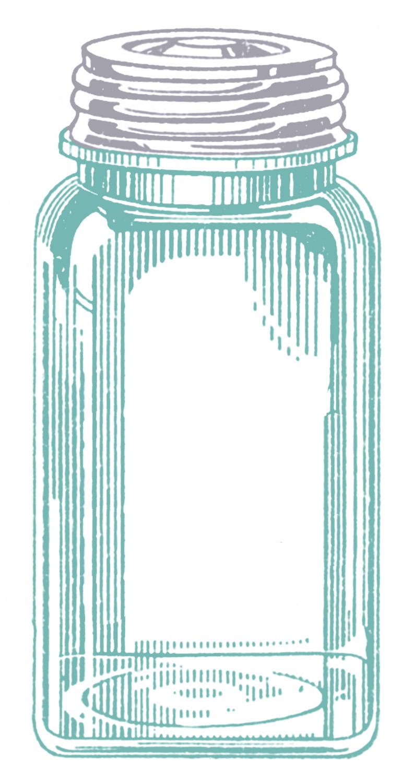 Vintage mason jard clipart image black and white stock Vintage Images - Mason Jars - The Graphics Fairy image black and white stock