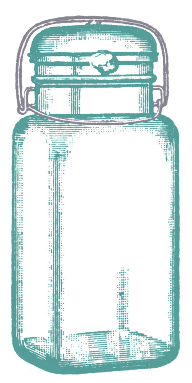 Vintage mason jard clipart black and white stock Vintage Clip Art - Cute Glass Mason Jar - Label - The ... black and white stock