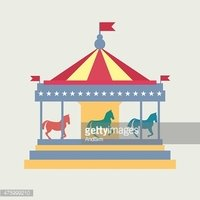 Vintage merry go round clipart clip stock Vintage Merry Go Carousel Vector stock vectors - Clipart.me clip stock