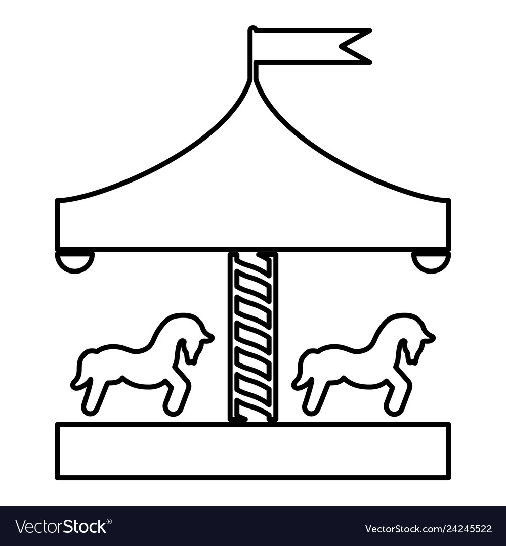 Vintage merry go round clipart clipart download Carousel roundabout merry-go-round vintage clipart download