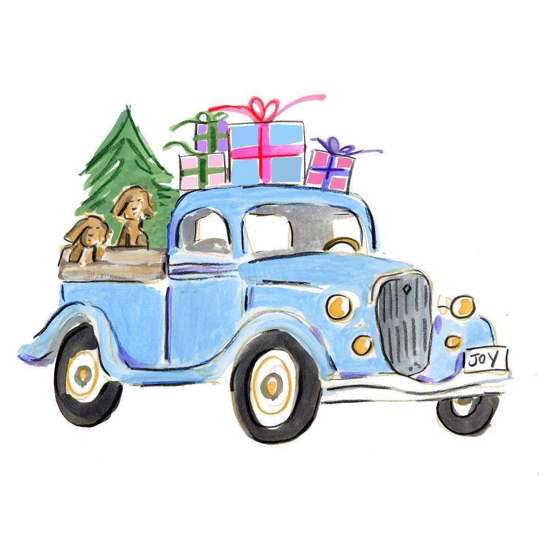 Vintage mint holiday truck clipart picture royalty free stock Pickup Truck Clipart Free | Free download best Pickup Truck ... picture royalty free stock