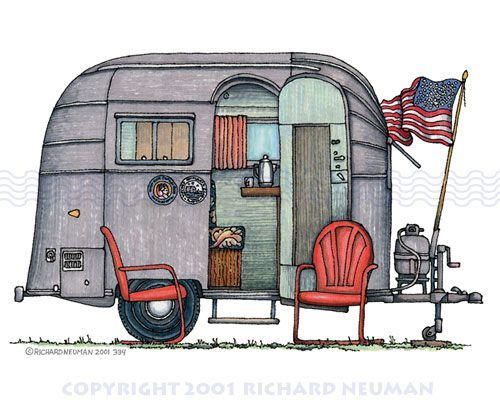 Vintage mobile home clipart jpg free download Pin by Marilynn Harper on Art | Airstream campers, Airstream ... jpg free download