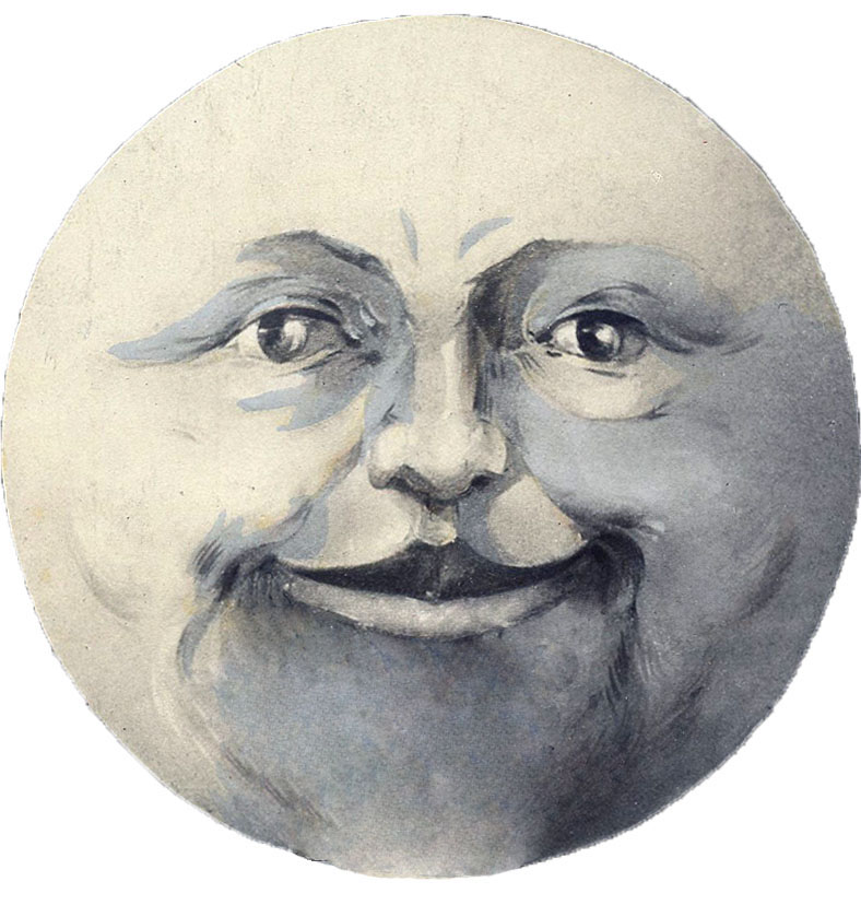 Vintage moonface clipart picture library download 11 Man in the Moon Clipart! - The Graphics Fairy picture library download
