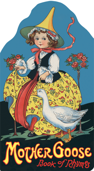 Vintage mother goose clipart clipart freeuse stock Vintage Illustration Mother Goose shaped classic nursery rhyme book - Noble  Niches gift clipart freeuse stock