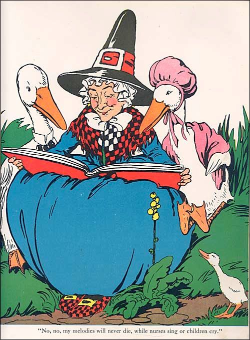 Vintage mother goose clipart picture free stock Breaking the Mother-Goose Code*: look for it February 2015 ... picture free stock