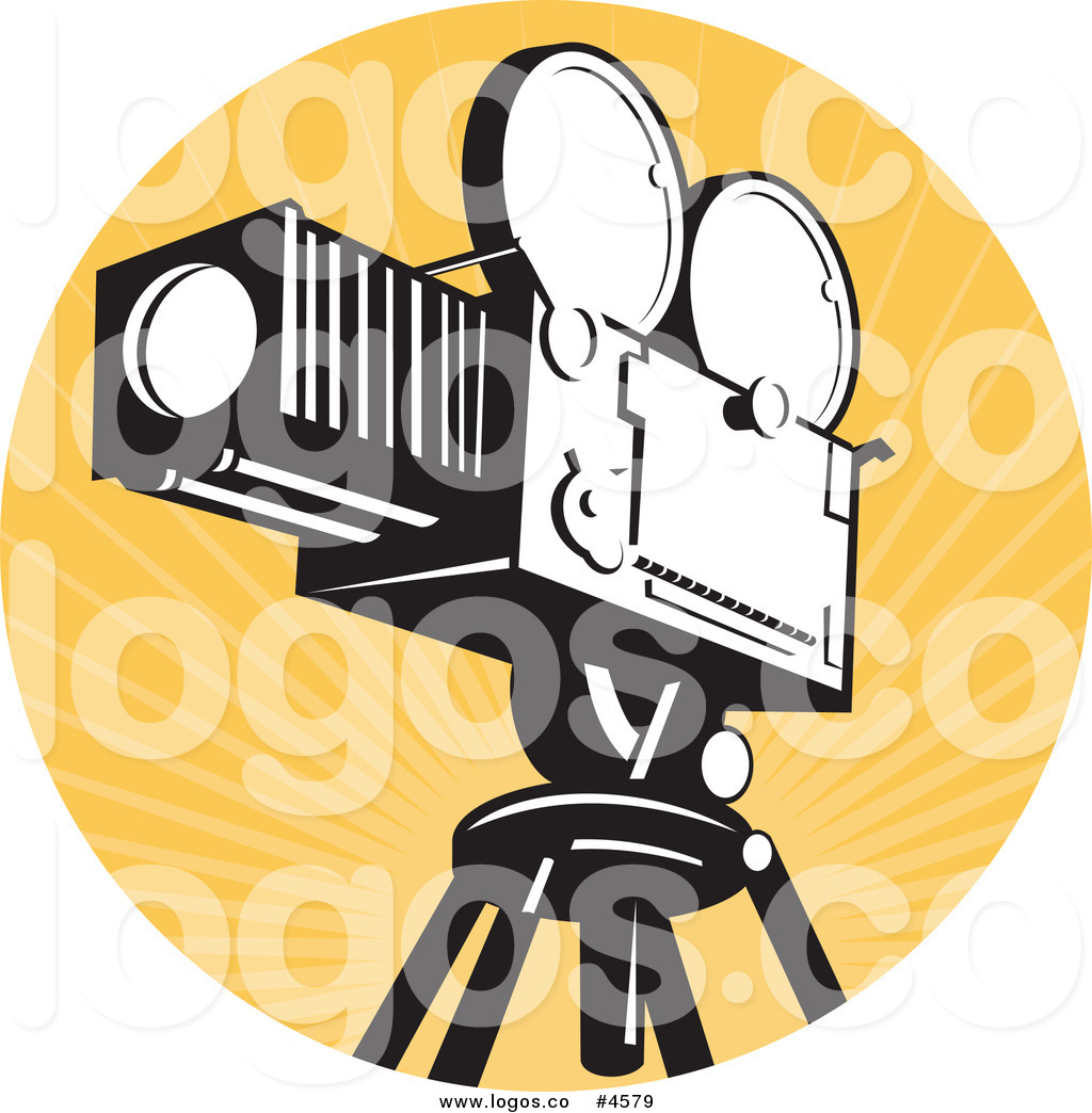 Vintage movie camera free clipart vector Royalty Free Vintage Movie Film Camera Logo by patrimonio ... vector