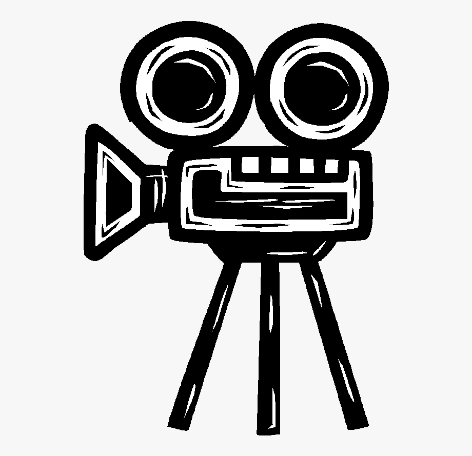 Vintage movie free clipart black and white graphic free Movie Camera Clipart - Old Movie Camera Drawing ... graphic free