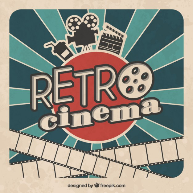 Vintage movie poster clipart clip art royalty free Retro cinema poster Vector | Free Download clip art royalty free