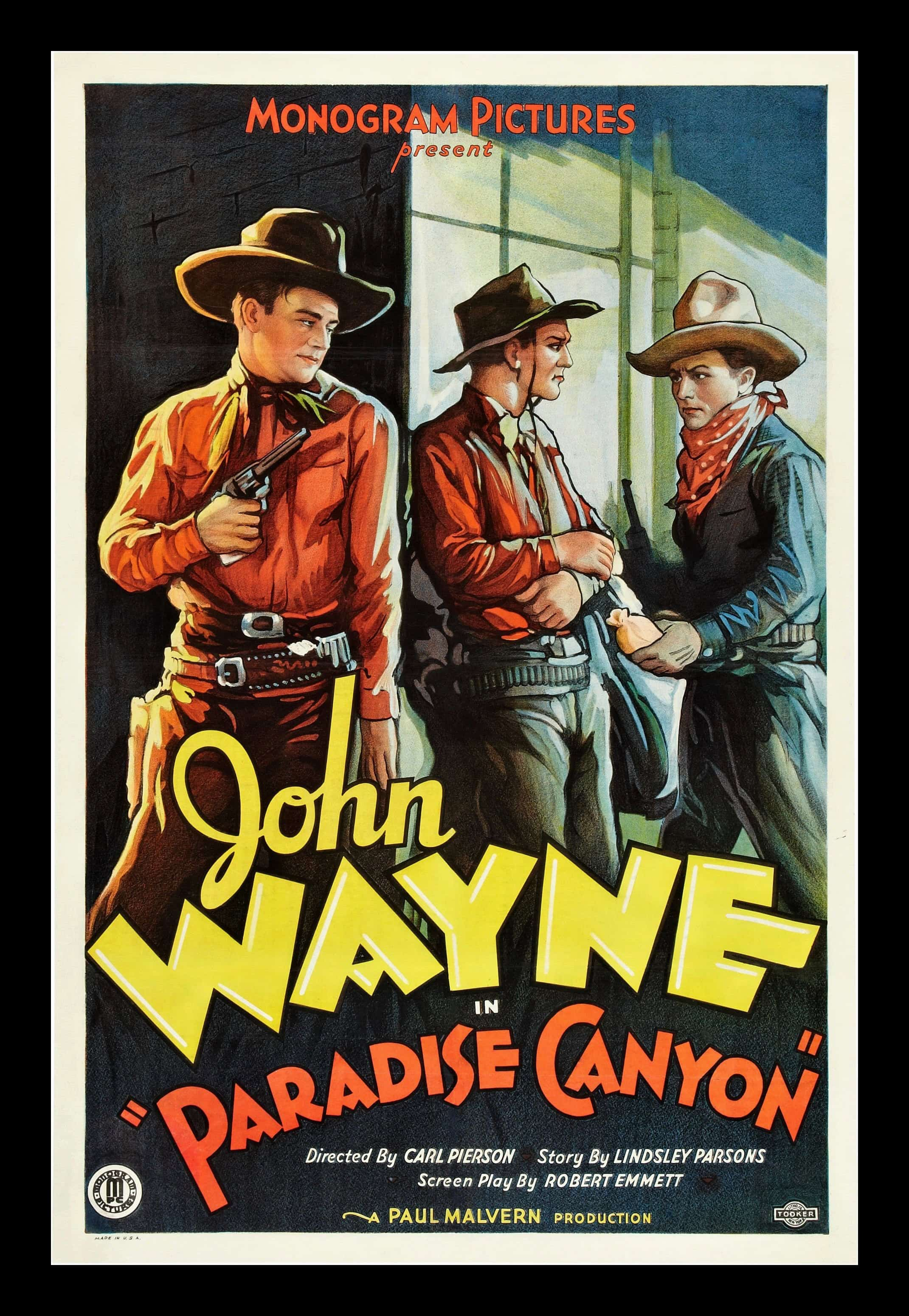 Vintage movie poster clipart picture free download John Wayne Paradise Canyon, 1935 Original Movie Poster picture free download