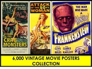Vintage movie poster clipart graphic transparent Details about 6,100 OLD MOVIE POSTERS COLLECTION Retro Clipart Old Wall Art  Classic JPG CD DVD graphic transparent