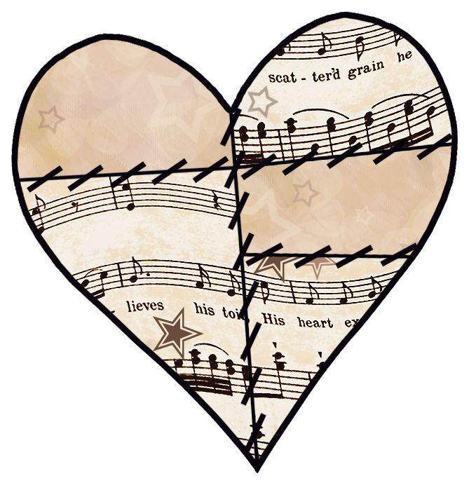 Vintage music note clipart png transparent ArtbyJean - Vintage Sheet Music: ---HEARTS   Mamka   Vintage ... png transparent