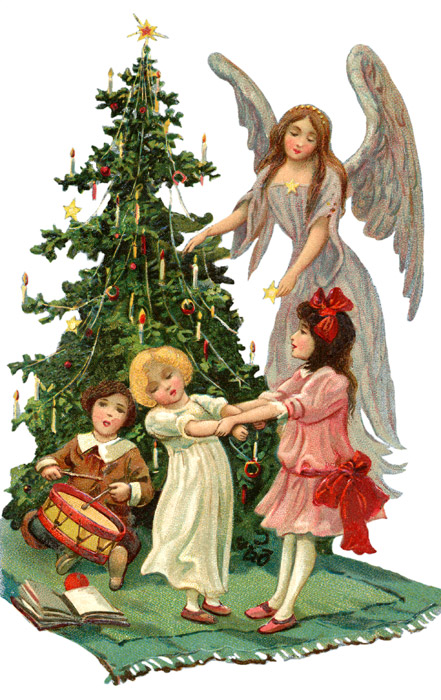 Vintage musical christmas angels clipart black and white library Free Images Of Christmas Angels, Download Free Clip Art ... black and white library