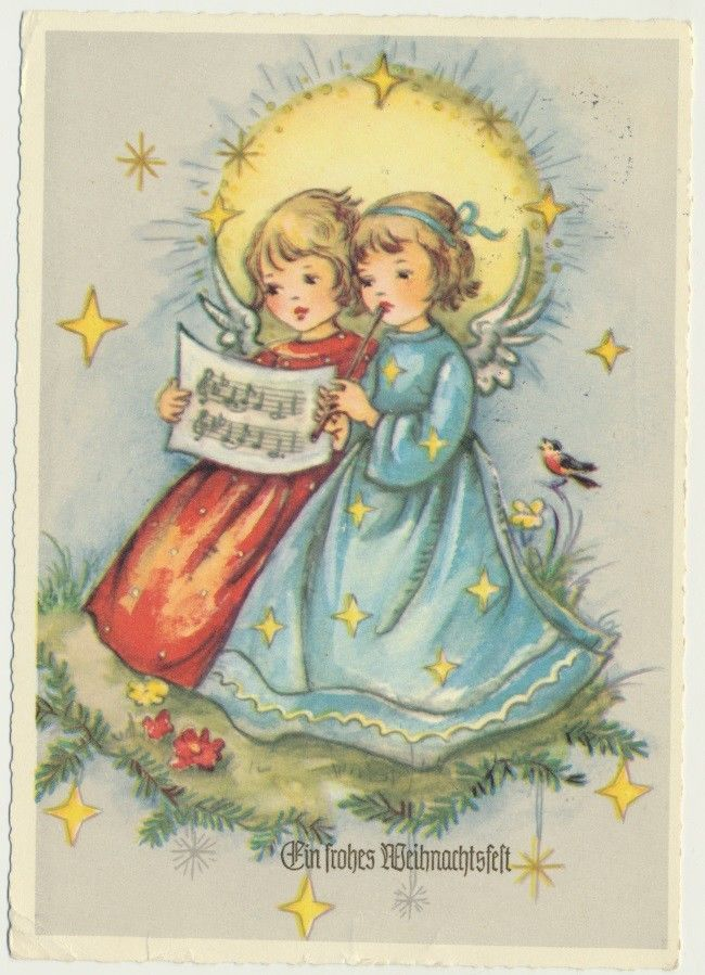 Vintage musical christmas angels clipart svg library Pin by Mark Butner on Bubba | Christmas angels, Musical ... svg library