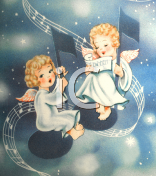 Vintage musical christmas angels clipart royalty free stock paintings of christmas angels | Christmas Angel Clipart ... royalty free stock