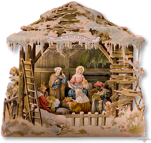 Vintage nativity clipart jpg library stock Pop Up Nativity Advent Book Calendar   Advent   Christmas ... jpg library stock