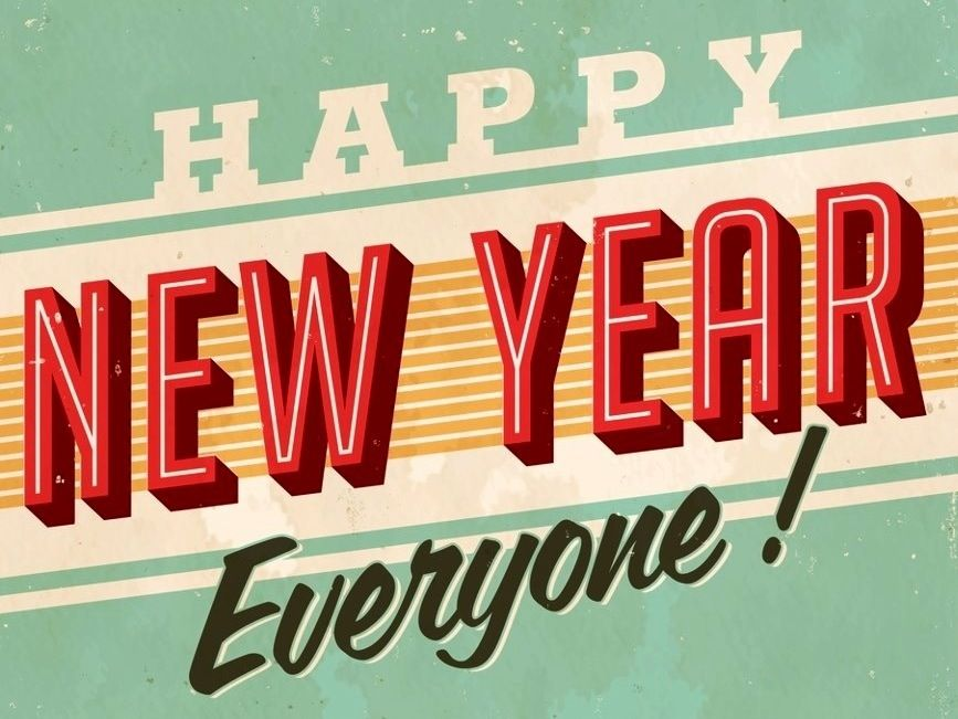 Vintage new year clipart jpg black and white stock Happy New Year Everyone! A new year but still vintage ... jpg black and white stock