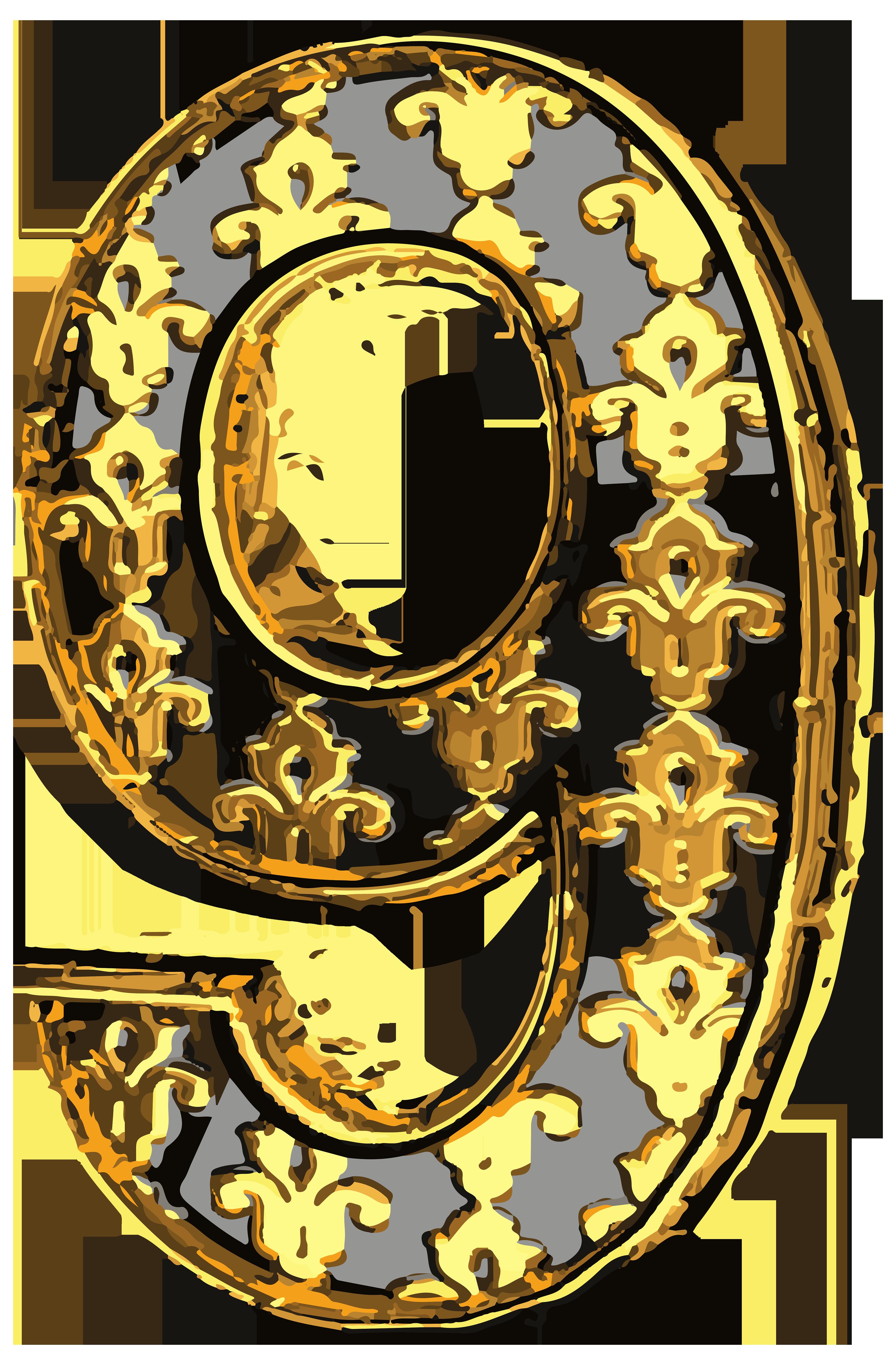 Vintage numbers clipart jpg Elegant Vintage Number Nine PNG Clip Art Image | Gallery ... jpg