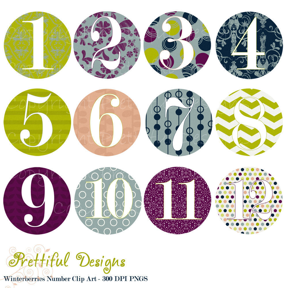 Vintage numbers clipart banner transparent library Free Decorative Number Cliparts, Download Free Clip Art ... banner transparent library