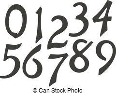 Vintage numbers clipart clipart library library Vintage digits and numbers Clip Art Vector Graphics. 1,706 ... clipart library library