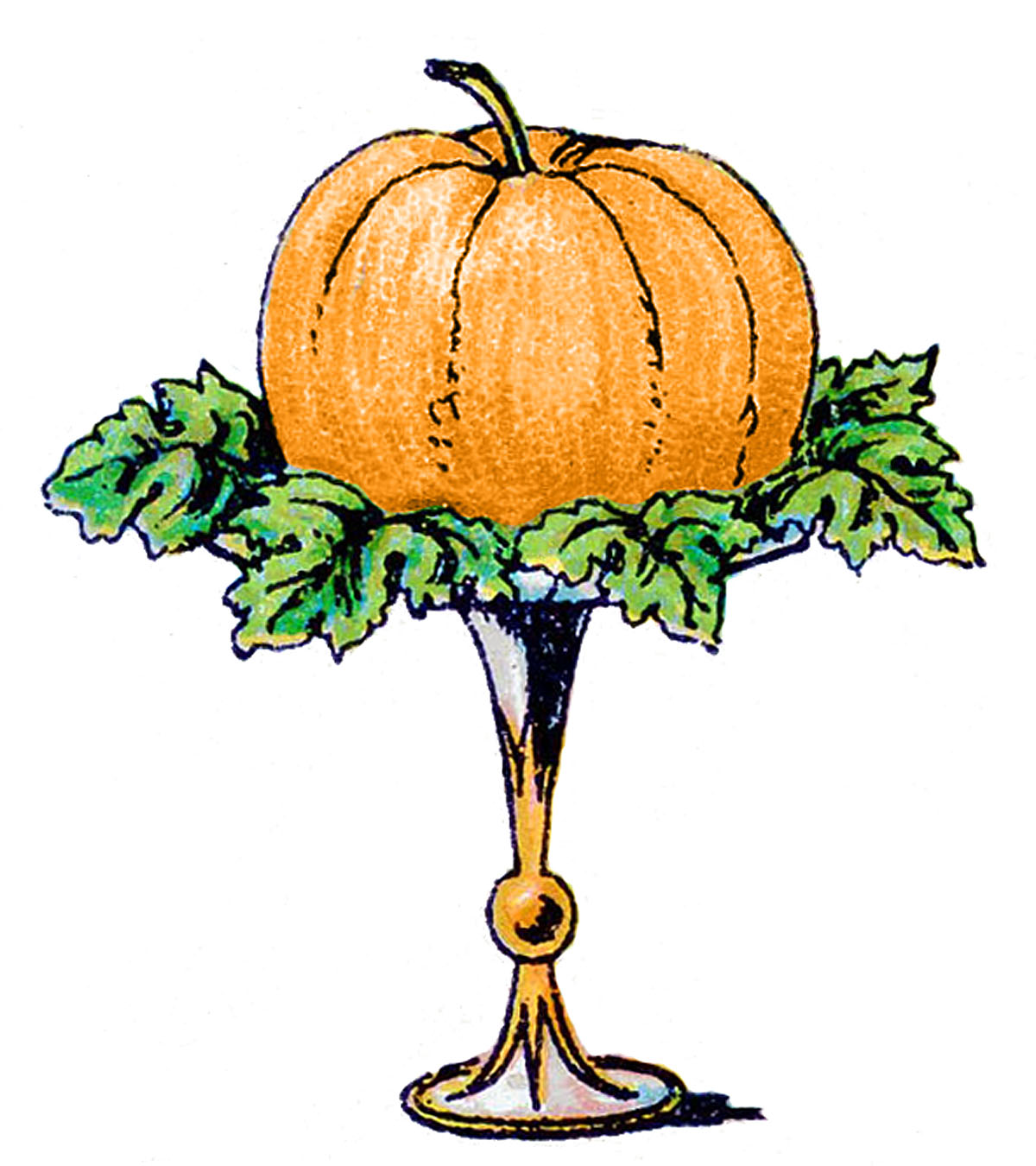Vintage october clipart graphic transparent library 9 Pumpkin Images -Halloween - Fall! - The Graphics Fairy graphic transparent library