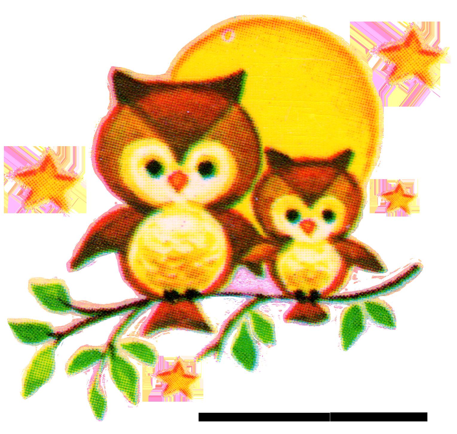 Vintage owl clipart free