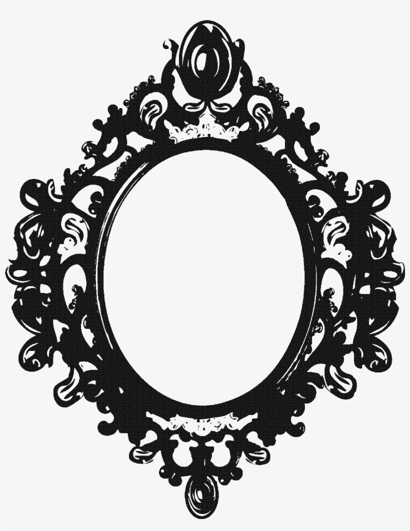 Vintage pencil clipart stock Vintage Clipart Mirror Frame Pencil And In Color Vintage ... stock
