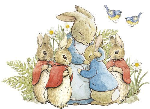 Vintage peter rabbit clipart svg royalty free mom bunny with babies peter rabbit - Google Search ... svg royalty free