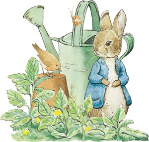 Vintage peter rabbit clipart banner jpg black and white library Pin by Carol Ann on ARTIST BEATRIX POTTER in 2019 | Beatrix ... jpg black and white library