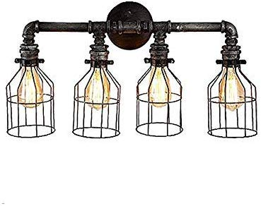 Vintage pipe lamps clipart svg royalty free BAYCHEER HL409431 4 Lights Bright Water Pipe Lights Mottled ... svg royalty free
