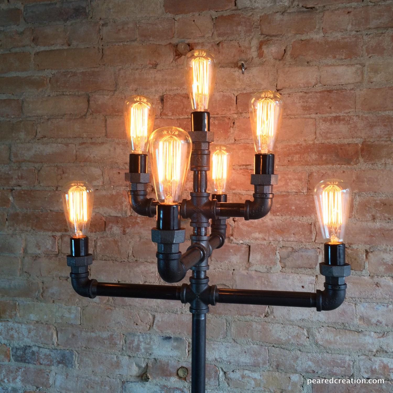 Vintage pipe lamps clipart svg stock Edison Bulb Light Ideas: 22 Floor, Pendant, Table Lamps svg stock