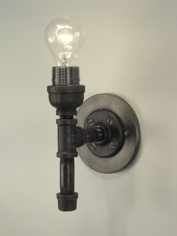 Vintage pipe lamps clipart image royalty free library Black Pipe Sconce   Repurposed Lighting   Made in VT ... image royalty free library