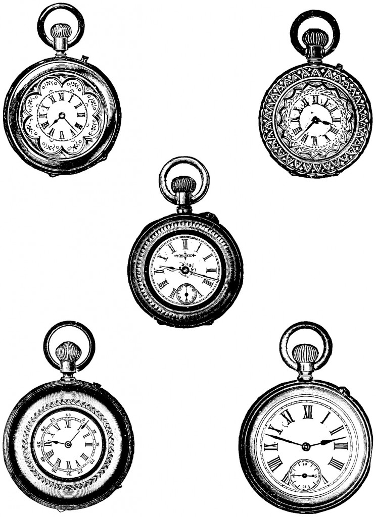 Vintage pocket watch graphic clipart jpg Free Clip Art   Vintage Pocket Watch   Oh So Nifty Vintage ... jpg
