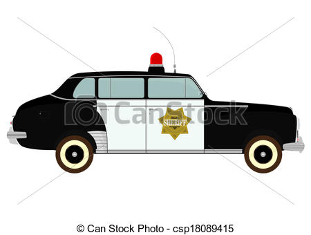 Vintage police car clipart banner library stock Vector Clip Art of Police car - Silhouette of vintage police car ... banner library stock